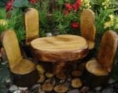 Miniature Garden Table Set Goes With A Fairy Door, Gnome Door, Hobbit Door, Elf Door, Troll Door.