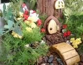 """Fairy Door, Gnome Door, Hobbit Door, Elf Door, Troll Door, 3"""" Tall Open Wee Door Garden Kit."""