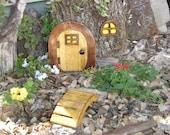 """Miniature Garden, Fairy Door, Gnome Door, Hobbit Door, Elf Door, Troll Door. 8"""" tall Dark Forest Window door garden kit."""