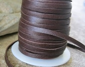 3MM Chocolate Soft Deerskin Leather Lace 3 Yards brown Jewelry Cord