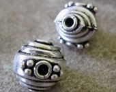 Sterling Silver Focal Bead Unique 13 X12MM Nice Weight 1 Piece