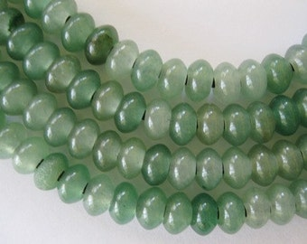 12mm Aventurine Large Hole Bead  Rondelle Beads Green 12 pieces 2.5 mm hole