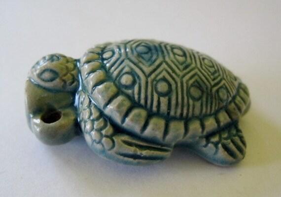 Turtle bottle Pendant Prayer Box Vessel Animal Totem Raku