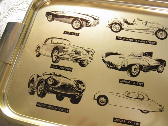 Vintage Serving Tray Vintyage Cars Made in England - VIN185