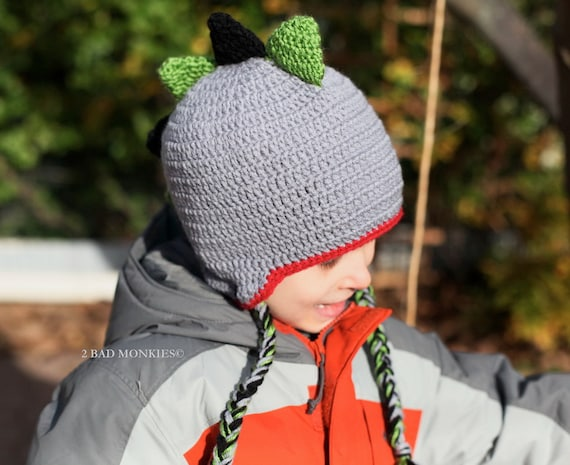 DINOSAUR Hat - Baby hat, Newborn Hat, Toddler Hat, Boys Hat