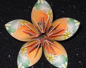yellow and orange water lilies origami paper flower