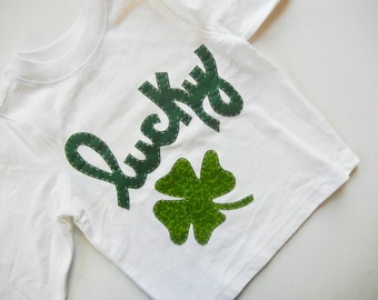 St. Patrick's Day, Children's Clothing, Boutique Kids Clothing, Lucky Clover Tee Shirt