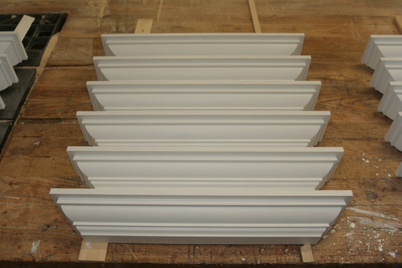 "Special for Lois ---  White Wooden Wall Shelf - 24"" Handmade Colonial Reproduction Shelves"