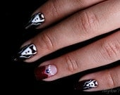 Titanic Inspired Artificial Nail Art