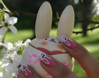 Bunny Artificial Nail Art