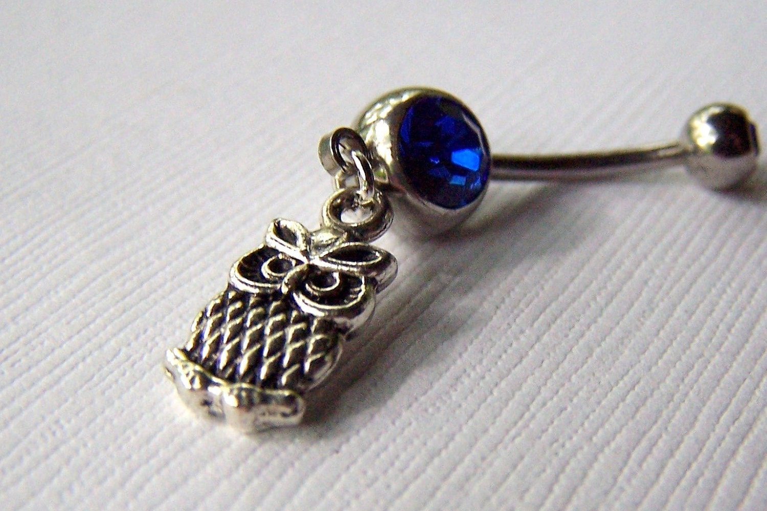 Owl Jewelry Belly Ring Belly Button Jewelry Navel Ring