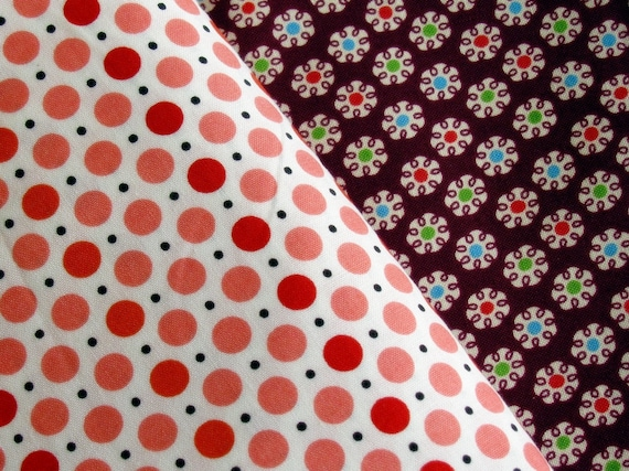 Denyse Schmidt Fabric Fat Quarter DS Quilts Picnic Dots Red Pink