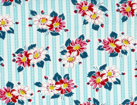Denyse Schmidt Fabric Half Yard DS Quilts Picnic Floral on Texture