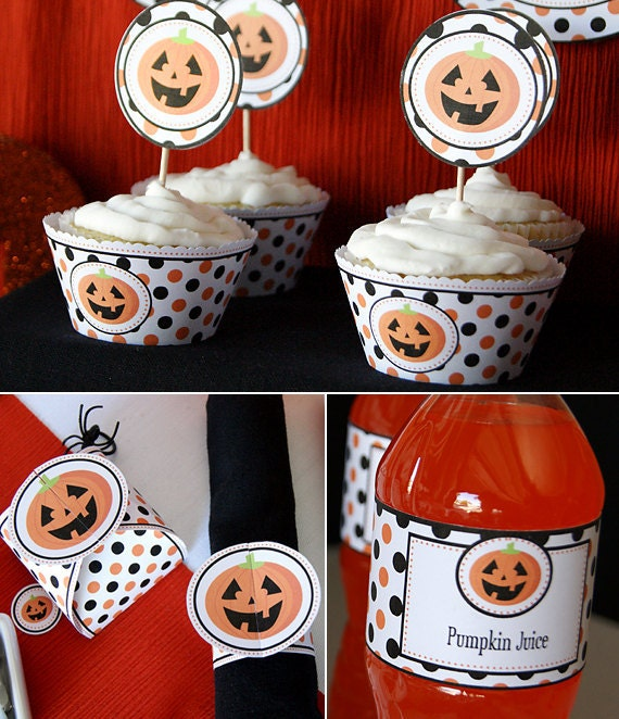Items similar to halloween printable party diy party for Halloween party favor ideas