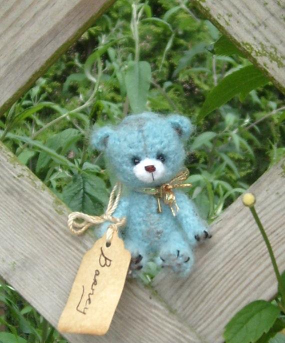 Artist bear, collectible, original mini  teddy bear named Barney