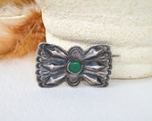 Vintage Turquoise Pin, Native American, Fred Harvey, Butterfly, Ethnic Pin, Historical