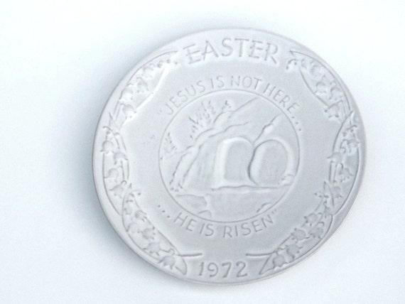Vintage Frankoma Easter Plate, Oral Roberts, 1972, Resurrection, Religious Memorabilia