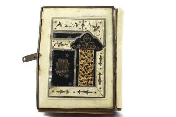 Vintage Hebrew Jewish prayer book antique 1900