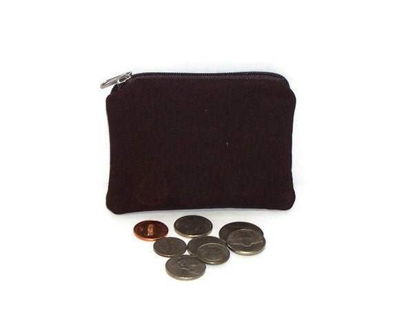 Mens Coin Purse in Very Dark Brown
