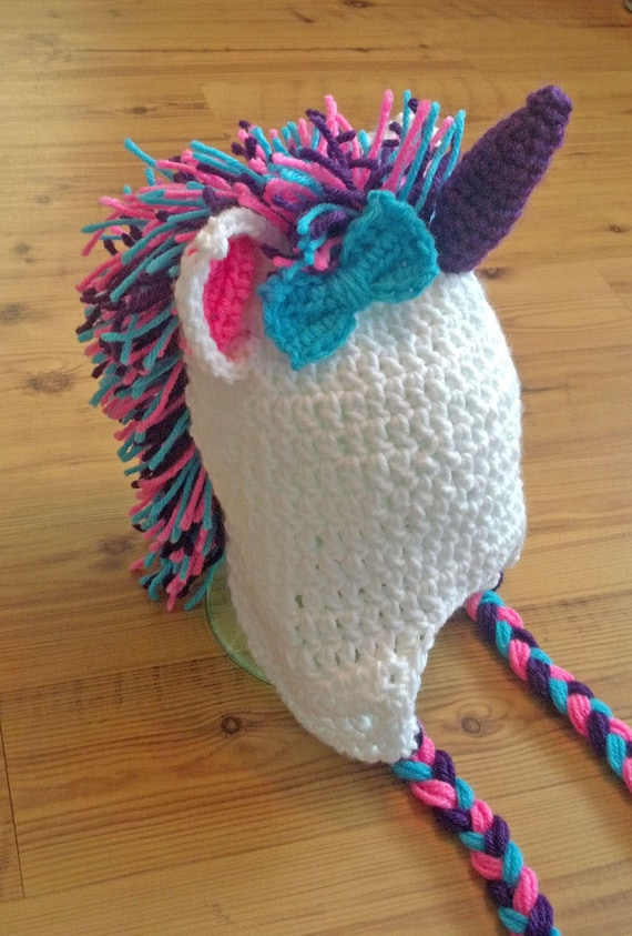 Crochet Unicorn Hat Custom Made All Sizes