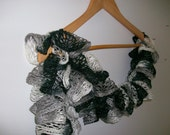 Knitting Ruffle Scarf Neckwarmer,Ready to Ship... Scarf cowl, neckwarmer, girly, teen girls, mother, Holiday Gift Ideas