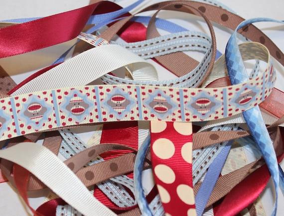 SOCK MONKEY Ribbon Set / Kit - Assorted 10 Yards of Matching Ribbon Scrapbook Hairbows