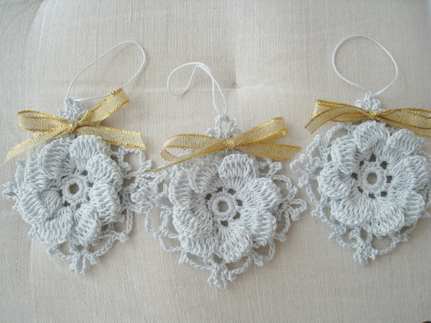 Contemporary crochet ornaments modern wall art decor by for Contemporary ornaments for the home
