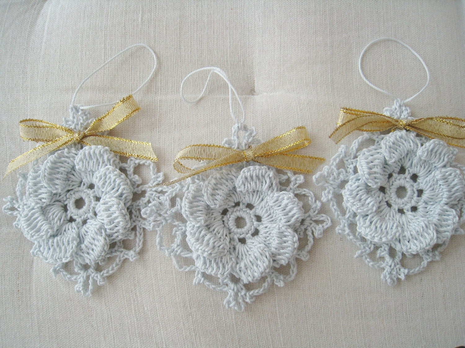 Decorative Crochet : Contemporary Crochet Ornaments Modern Wall Art Decor by DoSymphony