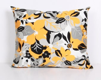 Pillow cover,Decorative pillow, throw pillow Yellow, gray, black