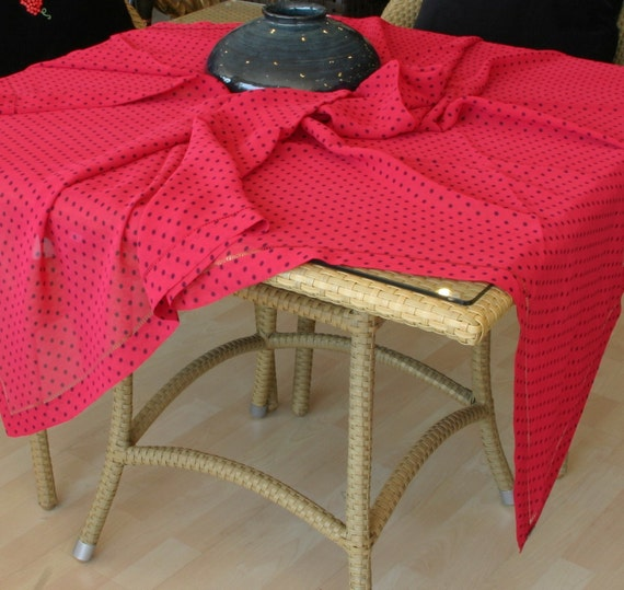 Tablecloth  ,home decor ,Square size ,organza ,polka-dotted,unique tablecoth ,Only One...