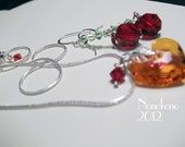 Applejack Sterling Silver and Swarovski Chandelier Earrings and Necklace set