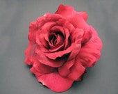 Realistic Blooming rose  Hair Clip