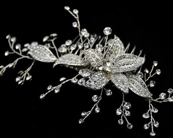 Clear Rhinestone Crystal bridal hair comb