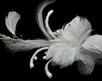 Vintage Inspired Bridal Hair Comb - Fascinator