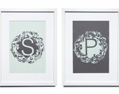 Personalised Monogram and Wild Flowers Papercut