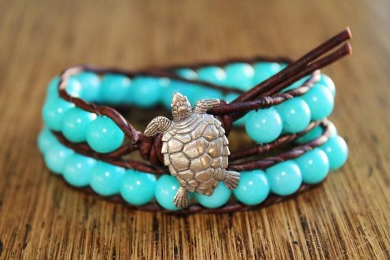 Reserved for Jamie - Sea Turtle Wrap Bracelet