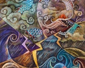 Eastern Dragon Giclee Print, 8x10