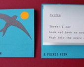 A Pocket Poem: Swifts Artist's Book