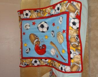 Sports Panel Fleece Blanket