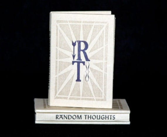 Super Sale! 50% off The Little Book of Random Thoughts - Limited Edition Handmade Letterpress Printed Book