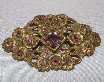 1920s to 30s FLOWER BROOCH