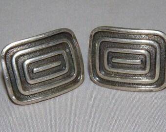 MID CENTURY Sterling Silver Geometric Earrings