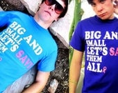 Big and Small Let's Save Them ALL - Breast Cancer Awareness T-shirt