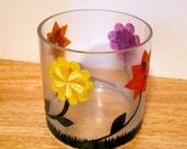 Glass Collage Flower Vase, Round