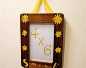 Flower Collage Picture Frame, 4x6 Yellow, Smile