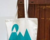We Can Move Mountains Bag Turquoise