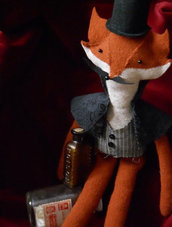 Fox Plush Woodland Animal Art Doll Jack OOAK