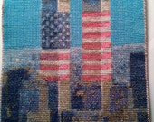 Twin Towers Memorial New York City Cross Stitch - FREE SHIPPING