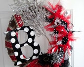 "The ""Bridgette"" All Occasion Wreath with Initial"