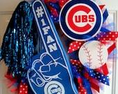 Chicago Cubs or Philadelphia Phillies Team Spirit Wreath